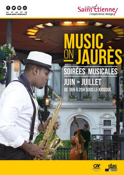 Soir es musicales saint etienne avec music on jaur s for Agence immobiliere saint etienne