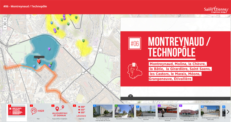 Carte interactive secteur Montreynaud Technopole