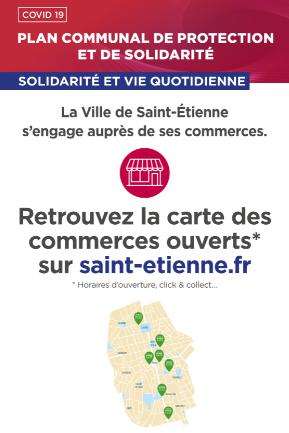 Carte  commerces ouverts ou click and Collect