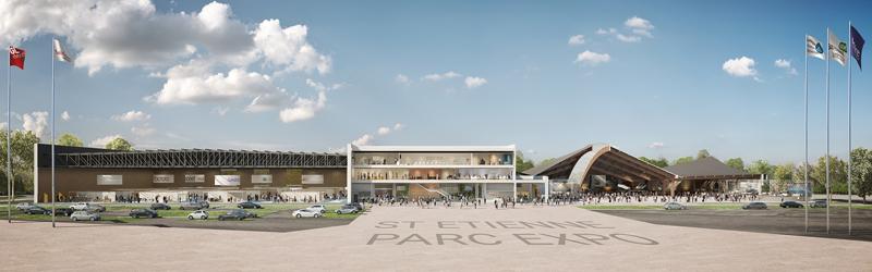 Perspective du futur parc des expositions © Cimaise architectes / Life design