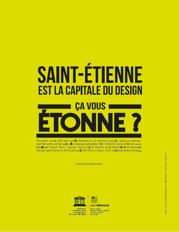 saint tienne est la capitale du design a vous tonne site internet de la ville de saint. Black Bedroom Furniture Sets. Home Design Ideas