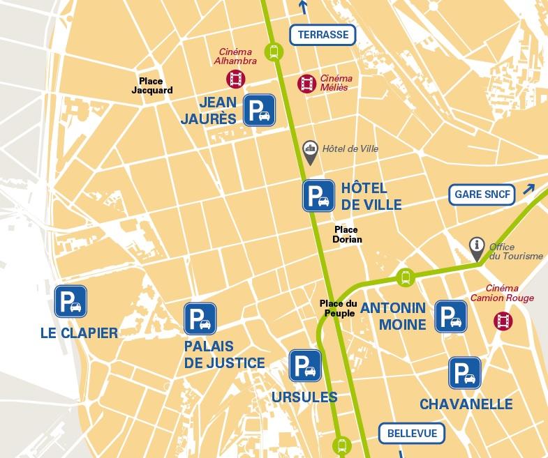 Stationnement en parking site internet de la ville de saint etienne - Piscine miroir en kit saint etienne ...