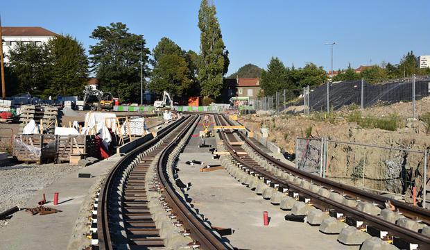 Rails de la 3ème ligne de tramway