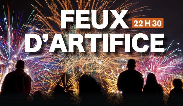 Les feux d'artifice à Saint-Étienne