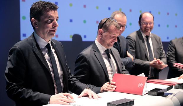 Signature de la convention Anru à Saint-Étienne
