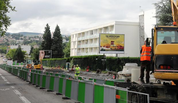 Travaux de création de la 3e ligne de tramway