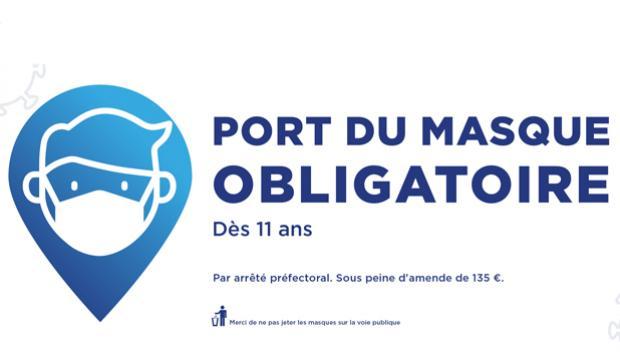 Port du masque obligatoire à Saint-Étienne